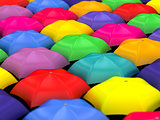many colored umbrellas