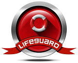 Lifeguard - Metal Icon with Lifebuoy