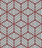 Hexagons and diamonds optical illusion pattern.