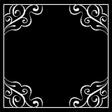 Vector white frame on a black background