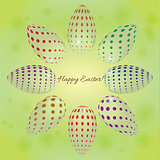 abstract background with colored eggs for Easter
