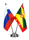 Russia and Grenada - Miniature Flags.