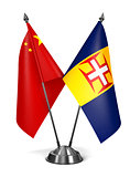 China and Madeira - Miniature Flags.