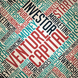 Venture Capital Background - Grunge Wordcloud Concept.