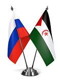 Russia and Sahrawi Arab Democratic Republic - Miniature Flags.