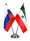 Russia and Somaliland - Miniature Flags.