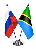 Russia and Tanzania - Miniature Flags.