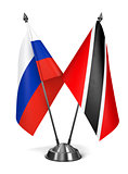 Russia, Trinidad and Tobago - Miniature Flags.