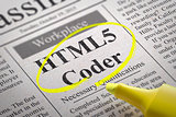 HTML 5 Coder Jobs in Newspaper.