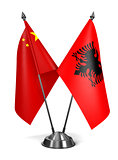 China and Albania - Miniature Flags.
