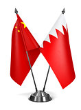 China and Bahrain - Miniature Flags.