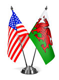 USA and Wales - Miniature Flags.