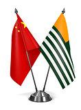 China and Azad Kashmir - Miniature Flags.