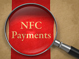 NFC Payments through Magnifying Glass.