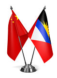 China, Antigua and Barbuda - Miniature Flags.