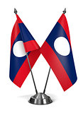 Laos - Miniature Flags.