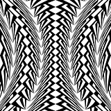 Design warped vertical geometric pattern
