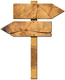 Wooden Directional Sign - Two Arrows