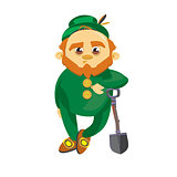 Leprechaun with a shovel