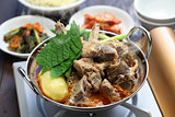 gamjatang, pork bone and potato soup, korean cuisine