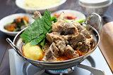 gamjatang, pork bone and potato soup, korean cuisine