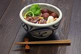 kamo nanban soba, buckwheat noodles with duck and leeks
