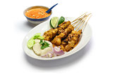 chicken satay, indonesian cuisine