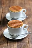 dutch stroopwafel and coffee