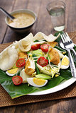 gado gado, indonesian salad with peanut sauce
