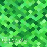 Bright Green Crocodile Scales