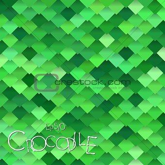 Bright Green Crocodile Scales