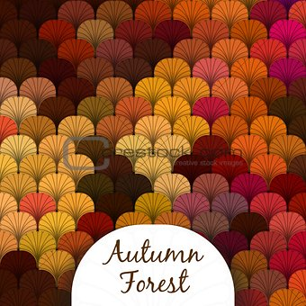 Autumn Forest Scaly Texture