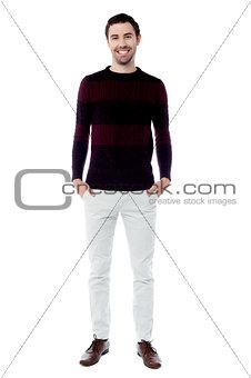 Smart guy posing in style