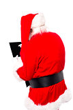 Santa claus with tablet device
