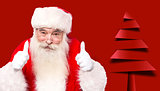 Santa claus giving thumbs up gesture