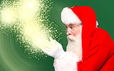 Christmas theme, santa claus with magic lights