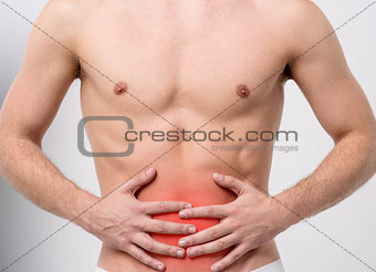 Abdomen its too painful.