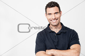 Casual man posing to camera