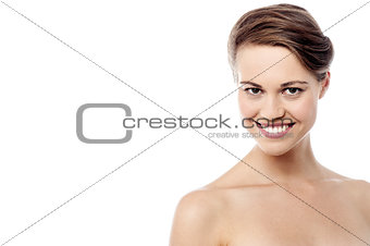 Topless woman posing to camera