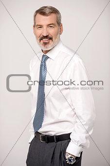 Confident businessman smiling