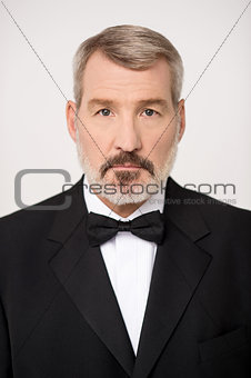 Portrait image of senior businessman