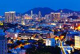 hong kong urban night
