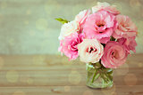 Rose flowers bouquet - vintage  style