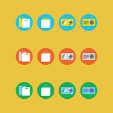 Collection of four different colored icons