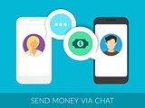 Transferring money via chat