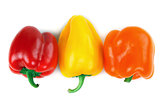 three Bulgarian pepper
