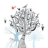 beautiful magical trees