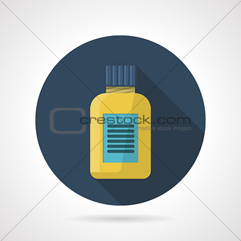Flat color vector icon for fat burners