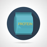 Flat color vector icon for protein supplements