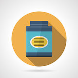 Flat color vector icon for gainer supplements